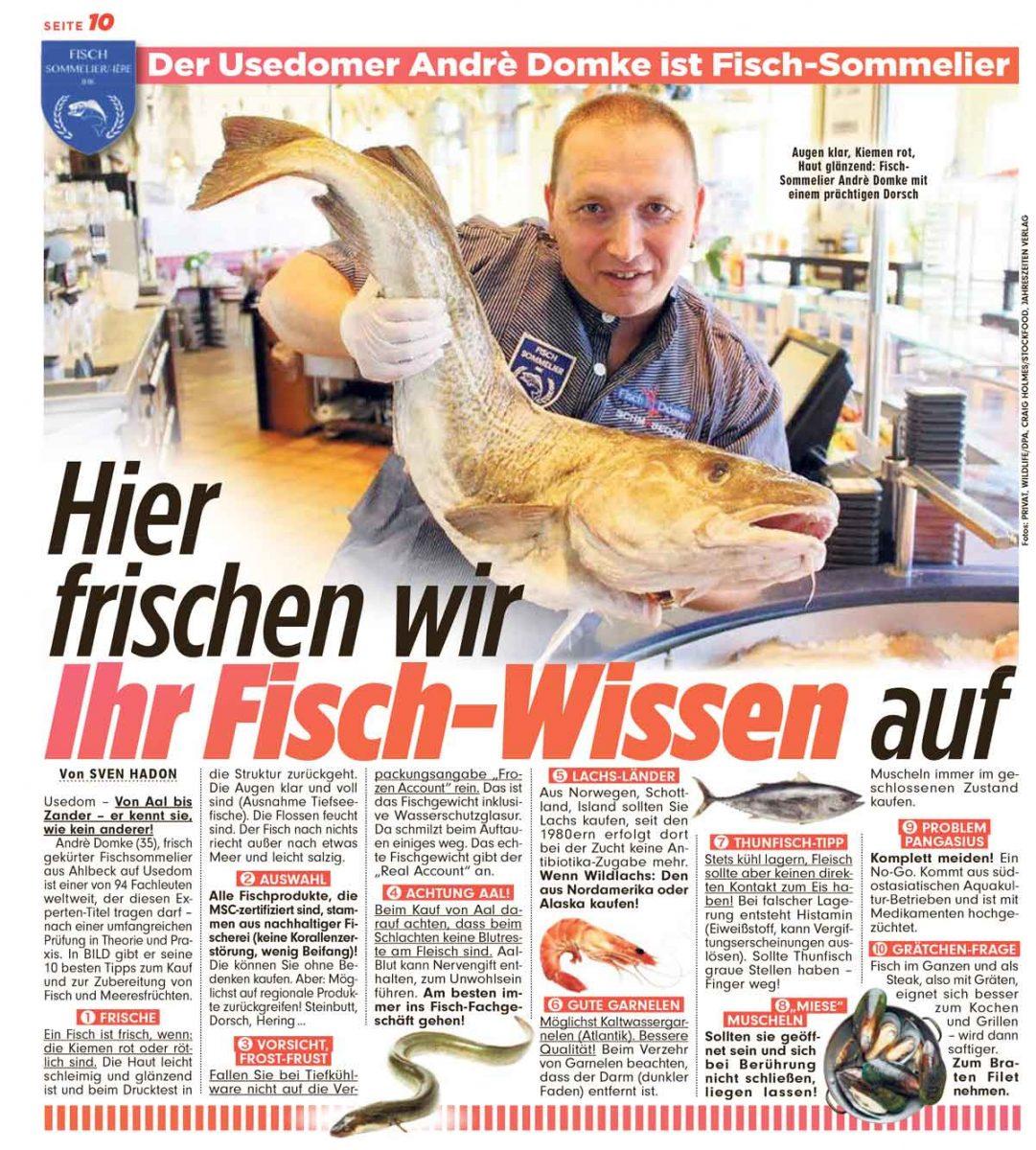 Fischsommelier in der Bild