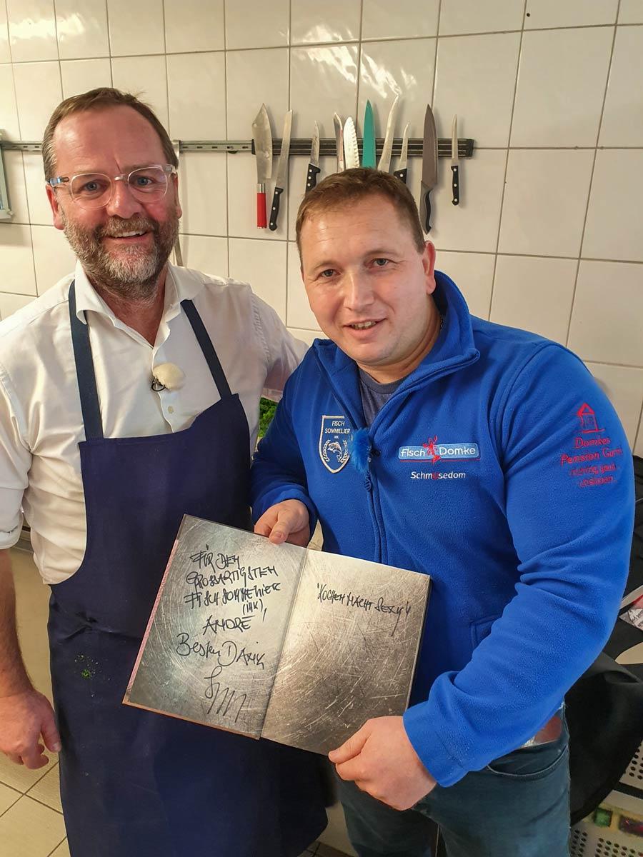 Sepp Schellhorn mit Andre Domke